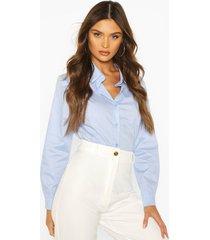 cotton mix shirt, blue