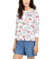 tommy hilfiger floral-print sweatshirt