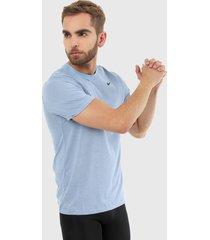 camiseta azul-negro nike dfc crew solid light