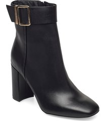 basic square toe boot shoes boots ankle boots ankle boot - heel svart tommy hilfiger