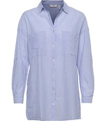 byfie yd stripe shirt - långärmad skjorta blå b.young