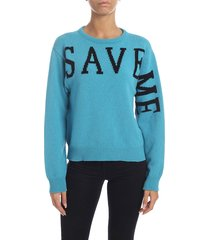 alberta ferretti - save me sweater in light blue