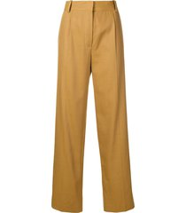 the row thea panama trousers - brown