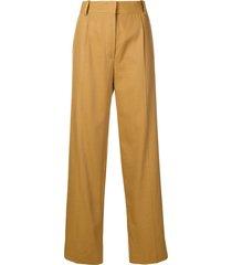 the row thea panama trousers - brown