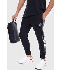 pantalón azul oscuro-blanco adidas performance essentials 3-stripes