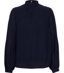 frmastri 2 blouse blouse lange mouwen blauw fransa