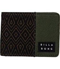 billetera tides wallet verde billabong
