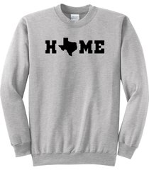 home texas map lonestar state shirt crewneck sweatshirt