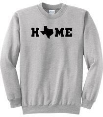 home texas map lonestar state shirt crewneck sweatshirt