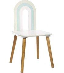 krzesło dziecięce dla dzieci rainbow blue