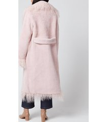 saks potts women's jimy coat - pink - 2/uk 10