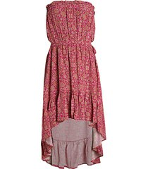 anisa floral silk dress