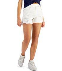 vanilla star juniors' cheeky raw-hem denim shorts
