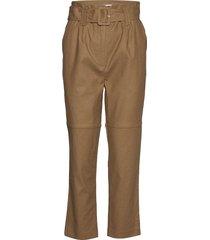 aliyah pants byxa med raka ben brun modström