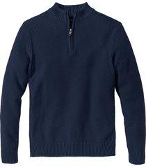 pullover con cerniera (blu) - bpc bonprix collection
