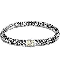 classic chain' birthstone peridot sapphire sterling silver bracelet - august