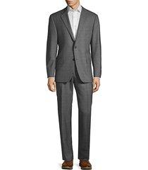 milburn iim series classic-fit check wool suit
