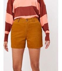 loft curvy washed twill shorts