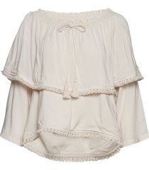 band of frills blouse blouse lange mouwen crème odd molly