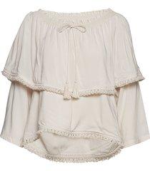 band of frills blouse blouse lange mouwen crème odd molly