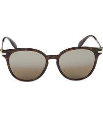 alexander mcqueen women's 56mm round sunglasses - havana
