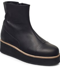 425g elasto black leather shoes boots ankle boots ankle boot - flat svart gram