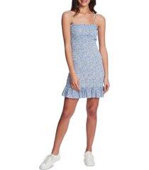 1.state smocked printed ruffle dress