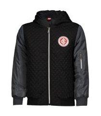 jaqueta internacional preta juvenil
