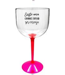 4 taã§as gin transparente com base rosa personalizada para live - transparente - dafiti
