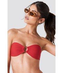 j&k swim x na-kd circle bandeau bikini top - red