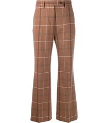 acne studios fitted low waist trousers - brown