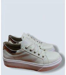 zapatilla blanca fiorentino