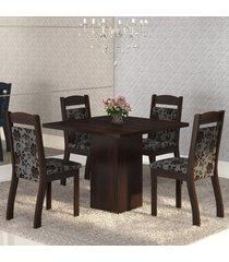 mesa de jantar 4 lugares cetim ameixa/cobre - mobilarte móveis
