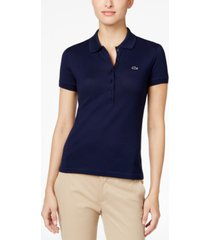 lacoste short sleeve slim fit stretch pique polo shirt