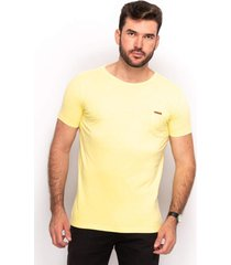 camiseta t shirt algodão masculina lisa dia a dia conforto