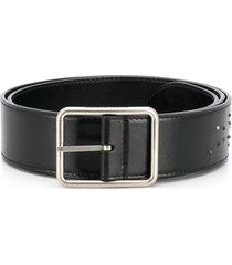 alexander mcqueen inlay studded belt - black