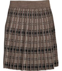 fqcloe-sk-check kort kjol brun free/quent