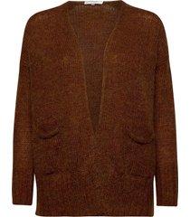 ejva knit cardigan stickad tröja cardigan brun second female