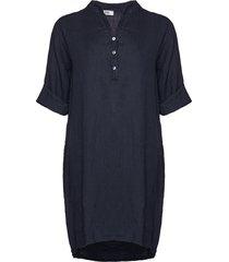 tiffany tiffany linne skjortklänning marinblå, 17690