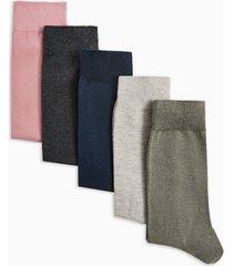 mens multi assorted color socks 5 pack