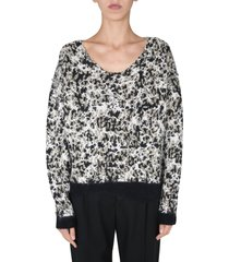 saint laurent wide neck sweater