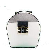 zaino cromia it saffiano 1403641 beige+acciaio