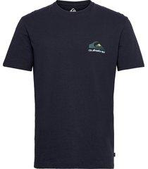 reflect ss tee t-shirts short-sleeved blå quiksilver