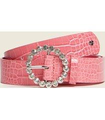motivi cintura stampa cocco con fibbia gioiello donna rosa