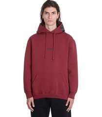 vetements sweatshirt in bordeaux cotton