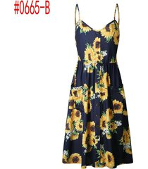vestidos de playa bohemian floral túnica falda de tanque casuales