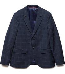 dg check reg fit sep blazer blauw tommy hilfiger