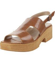 sandalia de cuero suela viamo madinta