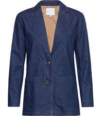 suit jacket in denim blazer kavaj blå coster copenhagen