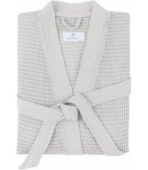 matouk kiran robe, size small/medium - grey